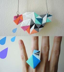 tuto origami bijoux