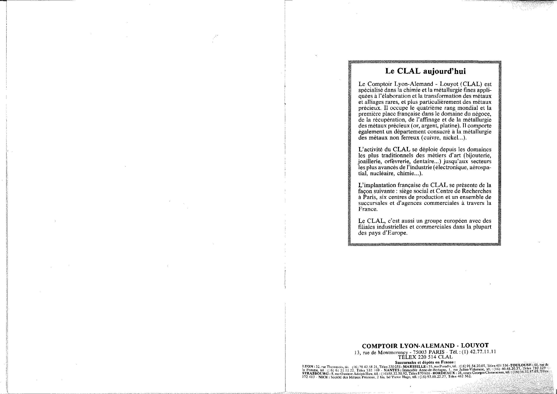 Comptoir lyon alemand louyot france - Comptoir lyonnais d electricite catalogue ...