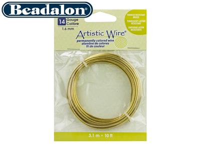 Fil laiton anti ternissement 160 mm Artistic Wire de Beadalon 310 mtres