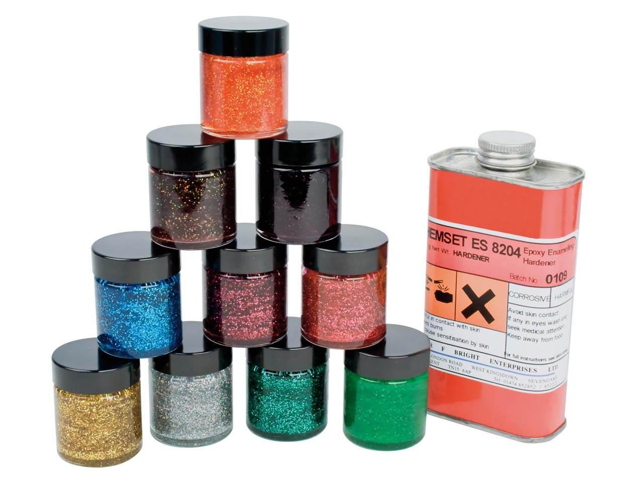 Kit d 39 maillage froid avec r sines epoxy paillet es cookson for Peinture sur email