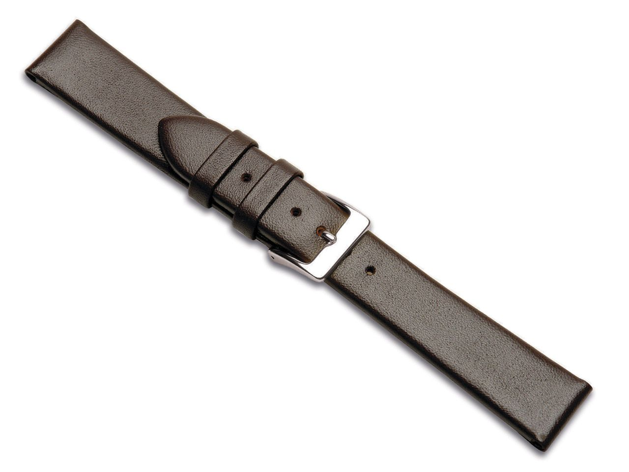 Bracelet montre en cuir de veau marron, 20 mm