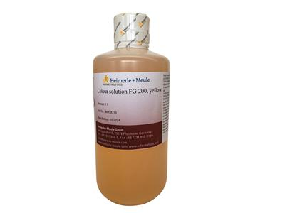 Solution de coloration FG 200, jaune, Heimerle Meule, flacon de 100ml
