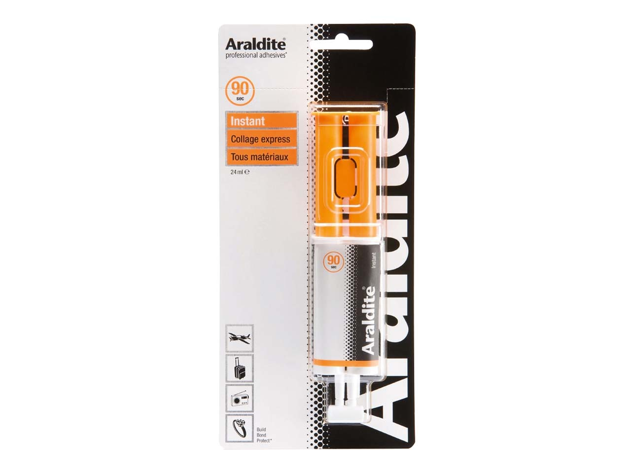 Colle Araldite instant, seringue 24 ml