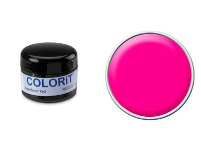 Colorit, couleur rouge night fever, pot de 5 g