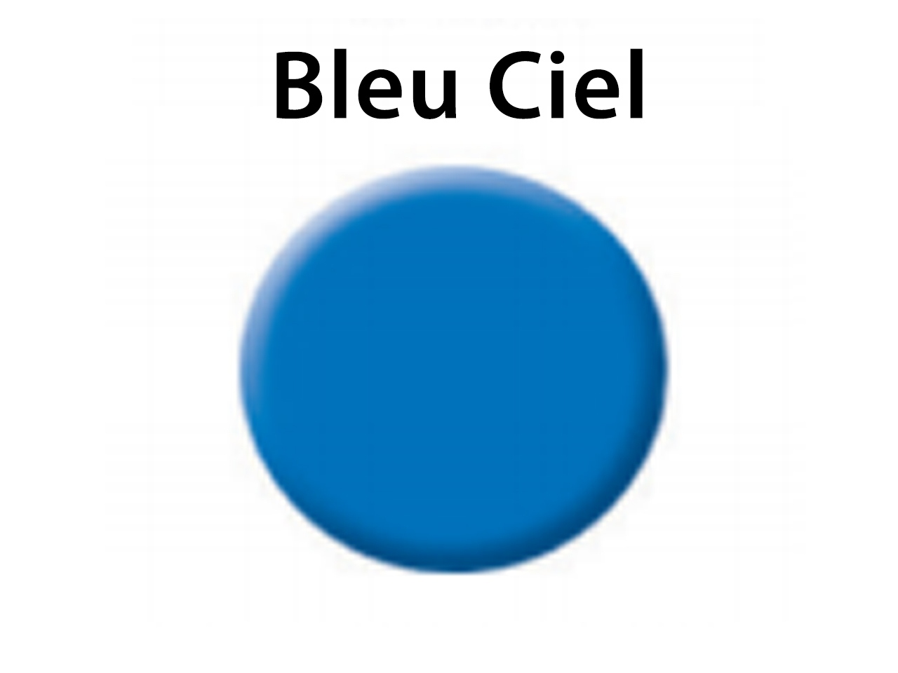 Colorit, couleur transparente bleu ciel, pot de 5 g