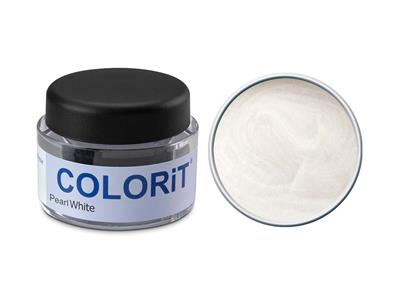 Colorit, couleur Pearl White, pot de 18 g