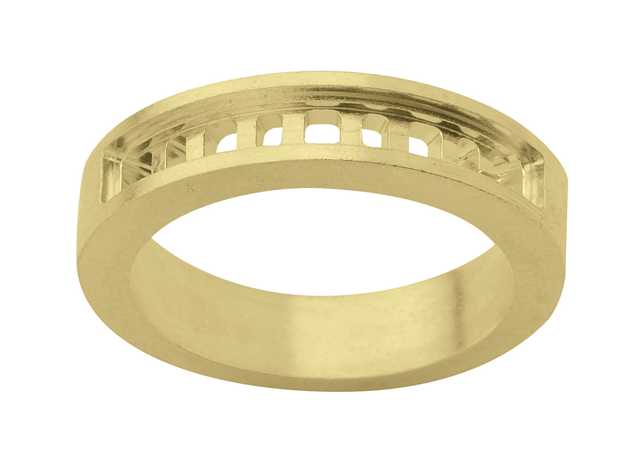 Alliance 00902 pour 5 princesses de 3x3 mm  + 4 baguettes de 2,5 x1,7mm, Or Jaune 18 k
