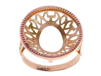 Bague 5468 Porte pice de 10 Frs Or rose18k