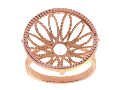 Bague 5453 Porte pice de 20 Frs Or rose18k