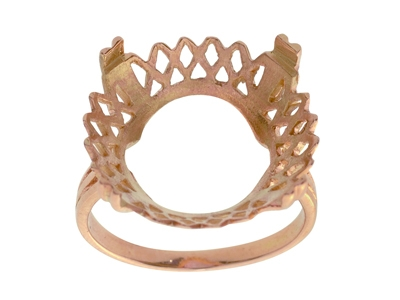 Bague 5532 Porte pice de 10 Frs Or rose18k