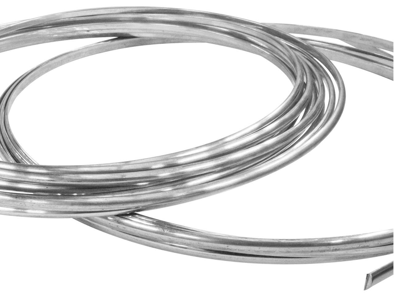 Fil demi jonc, 3,00 x 1,50 mm, Or 18k gris BN, recuit