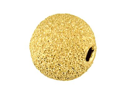 Boule-laser-2-trous-6-mm,-Or-jaune-9k