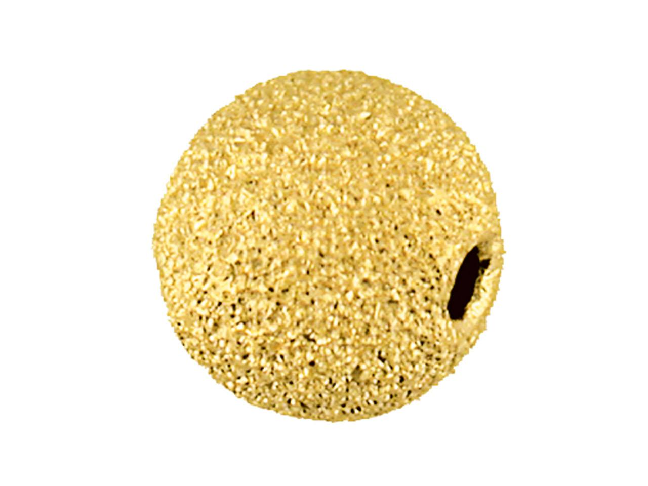 Boule laser 2 trous 6 mm, Or jaune 9k