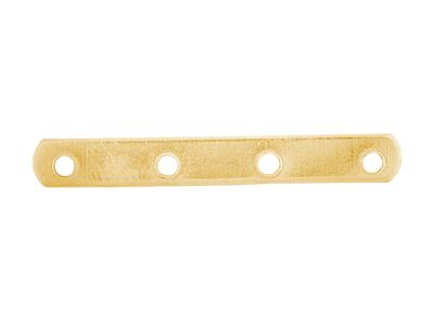Intercalaire barrette 4 trous 18 mm, Or jaune 18k, n 4