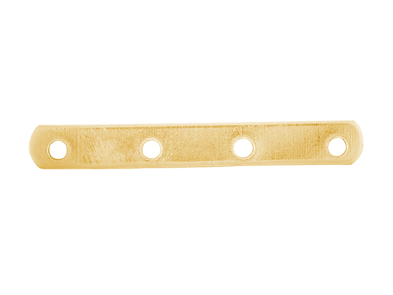 Intercalaire barrette 4 trous 18 mm, Or jaune 18k, n° 4