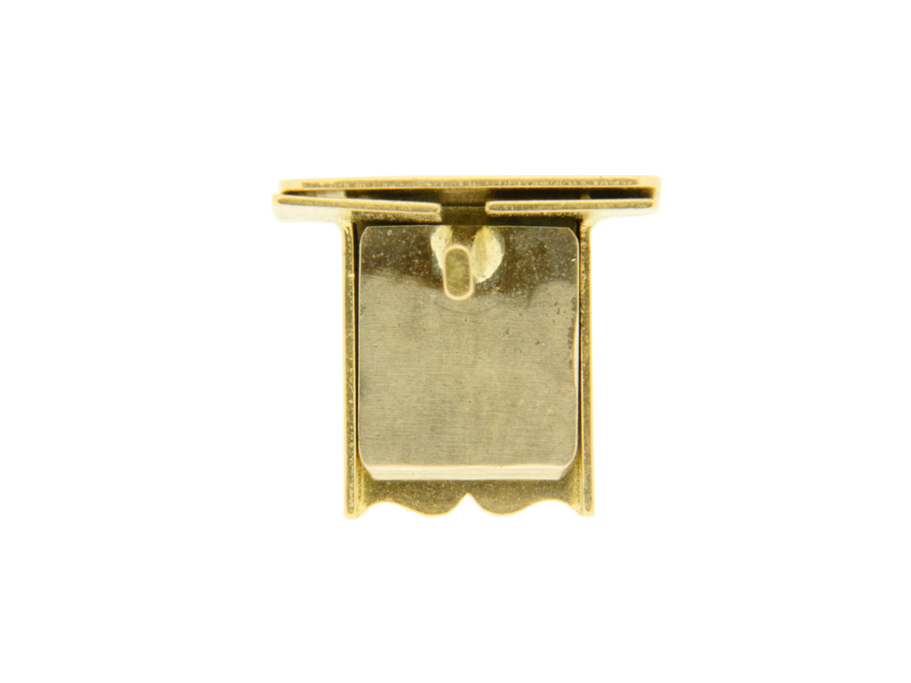 Fermoir cliquet, Or jaune 18k, 6,5 mm. Réf. 07167