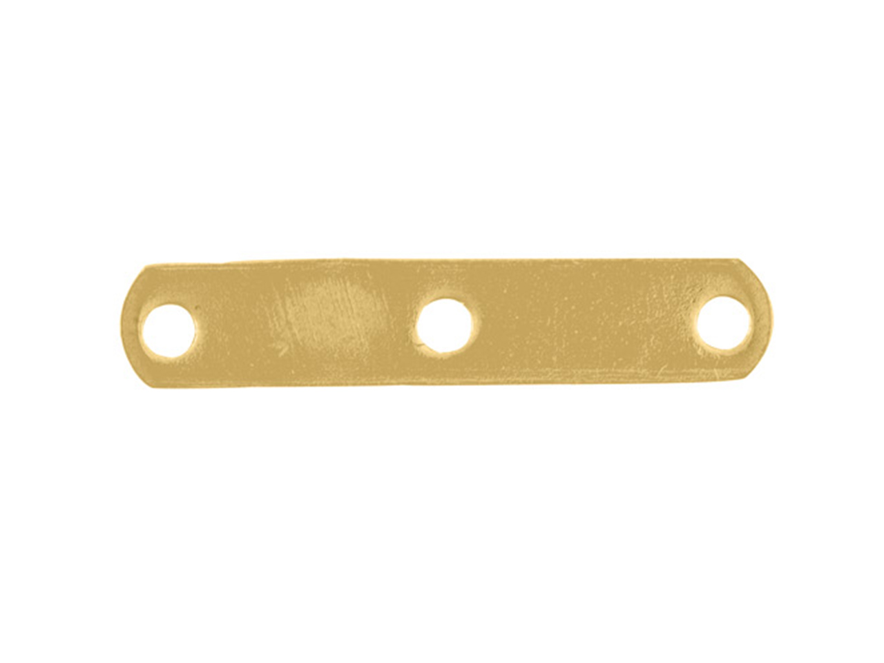 Intercalaire barrette 3 trous 15 mm, Or jaune 18k, n° 3