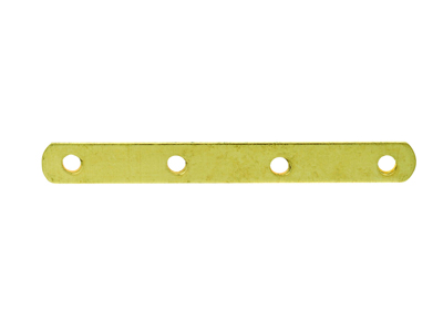 Intercalaire barrette 4 trous 22 mm, Or jaune 18k, n 4 Bis