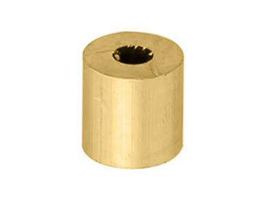 Douille cylindrique 250 x 1 x 250 mm Or jaune 18k