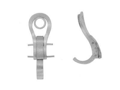 Systme Clip Oreilles Or gris 18k Pd 6 20 mm Rf 7304 ter