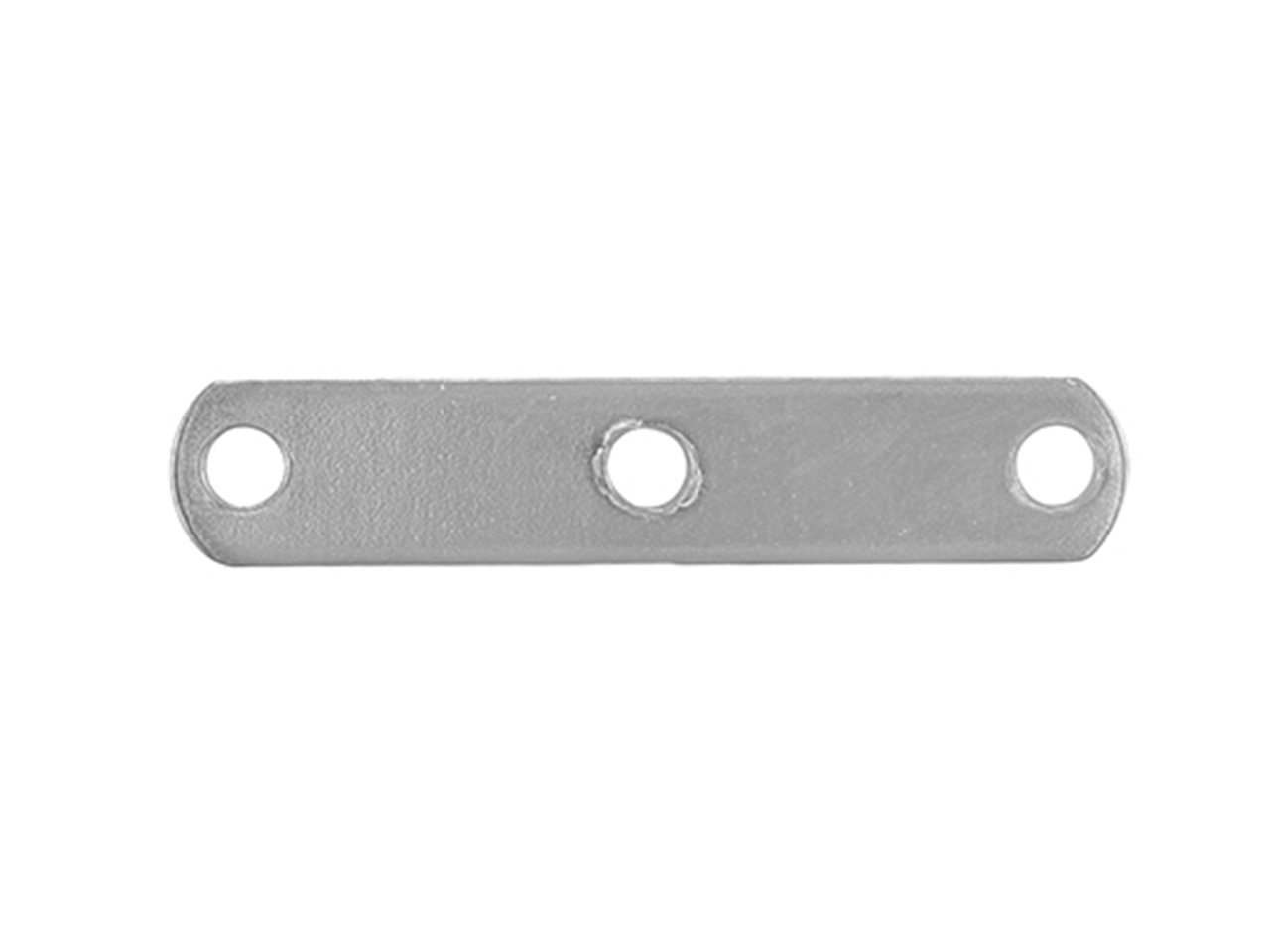 Intercalaire barrette 3 trous 15 mm, Or gris 18k, n° 3