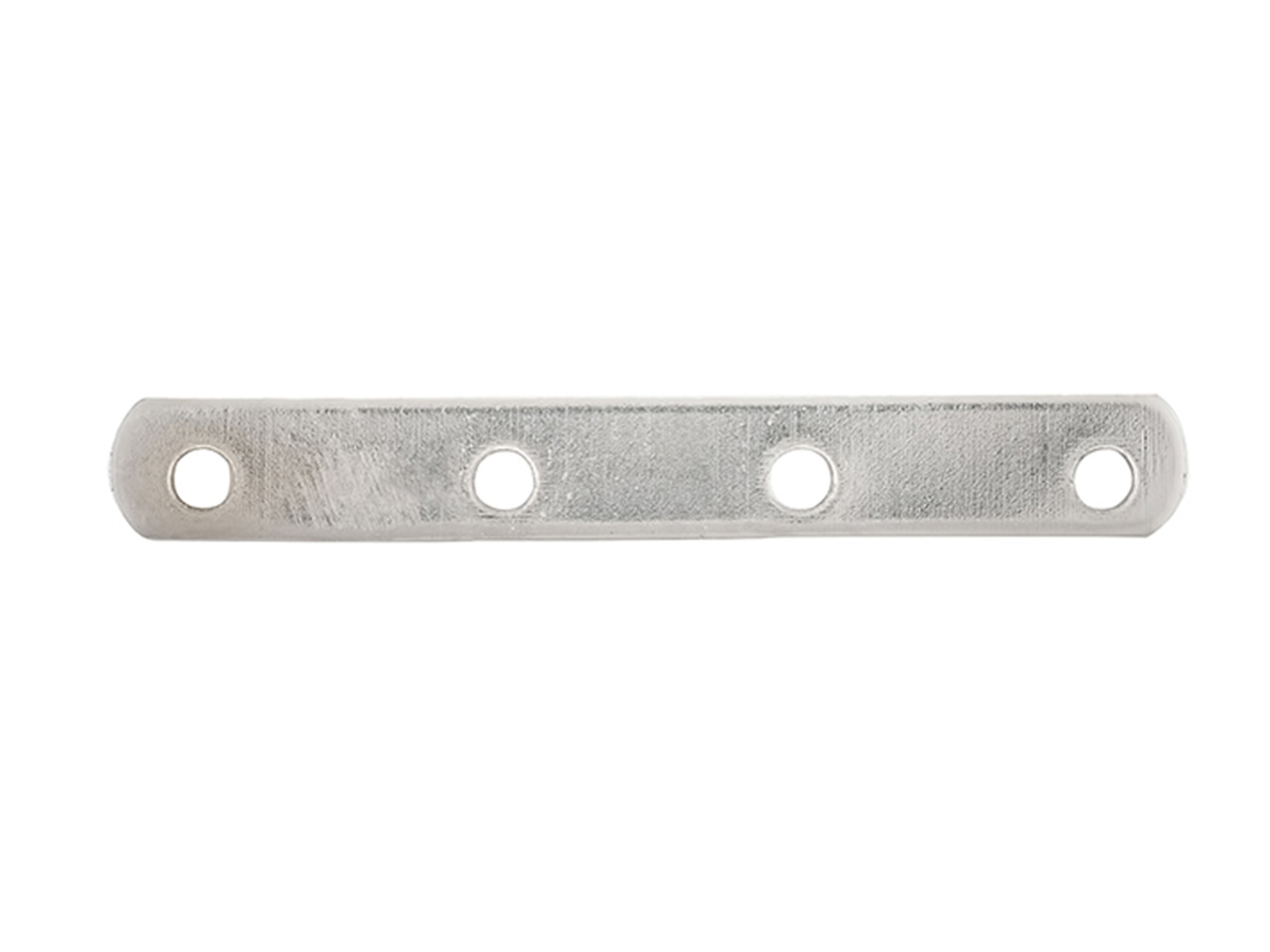 Intercalaire barrette 4 trous 18 mm, Or gris 18k