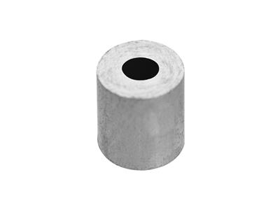 Douille cylindrique 230 x 1 x 250 mm Or gris 18k Pd 125