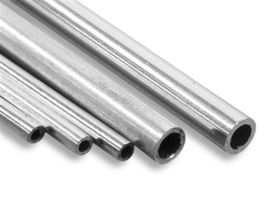 Tube charnière 1,80 x 1,20 mm, Or gris 18k Pd 13