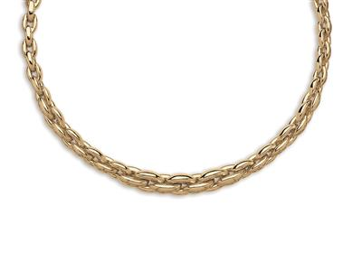 Collier chute Coques 10 mm Or jaune 18k 45 cm