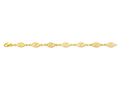 Bracelet maille filigrane Or jaune 18k 68 mm 19 cm