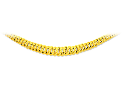 Collier maille amricaine chute Or jaune 18k 132 mm 45 cm