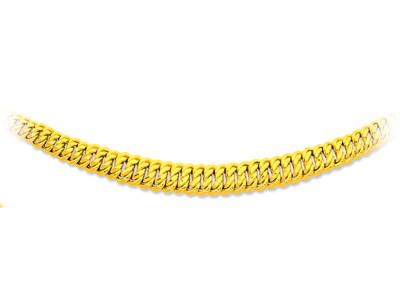 Collier maille amricaine chute Or jaune 18k 11 mm 45 cm