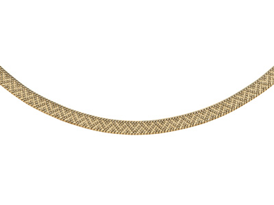 Collier Polonais Or jaune 18k 10 mm 41 cm.Rf. 4341