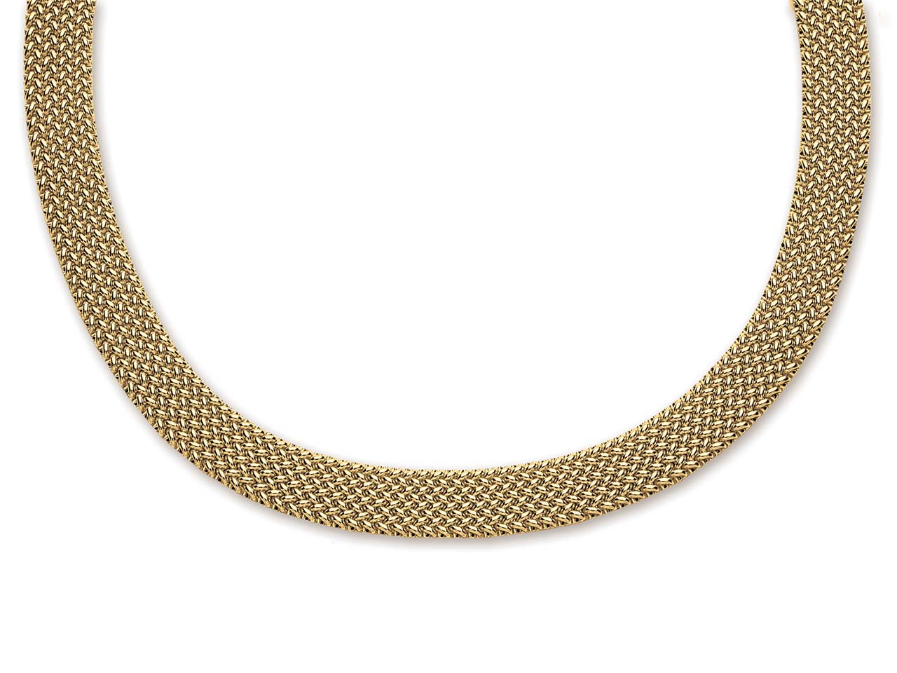 Collier 5580, maille polonaise, Or Jaune, 41 cm