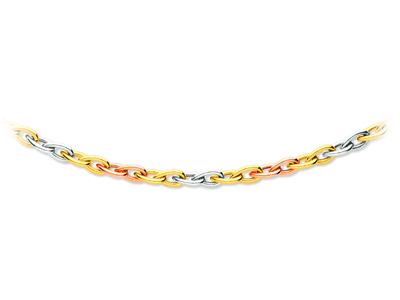 Collier ogives 3 ors 18k 71 mm 45 cm