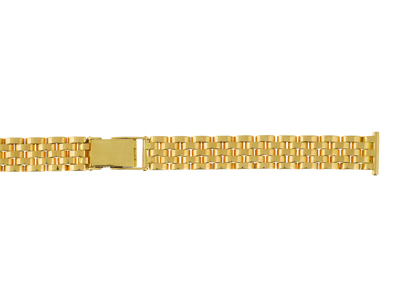 Bracelet montre grain de riz 12 mm Or jaune 18k. Rf. 9056
