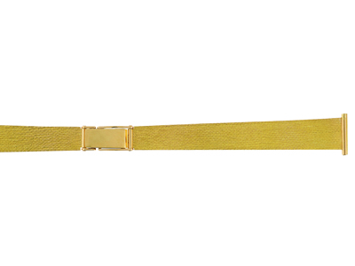 Bracelet montre Style Milanais satin 14 mm Or jaune 18k. Rf. 9047