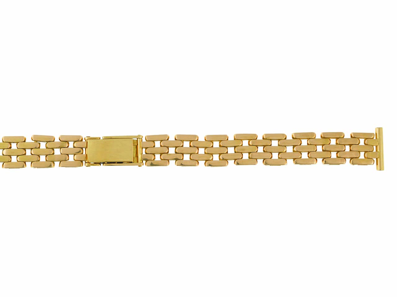 Bracelet montre grain de riz 18 mm, Or jaune 18k. Réf. 9044