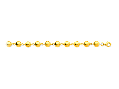 Collier Boules marseillais 8 mm, 45 cm, Or jaune 18k