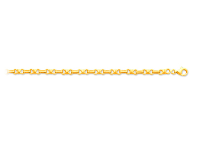 Bracelet noeuds Or jaune 18k 44 mm 20 cm
