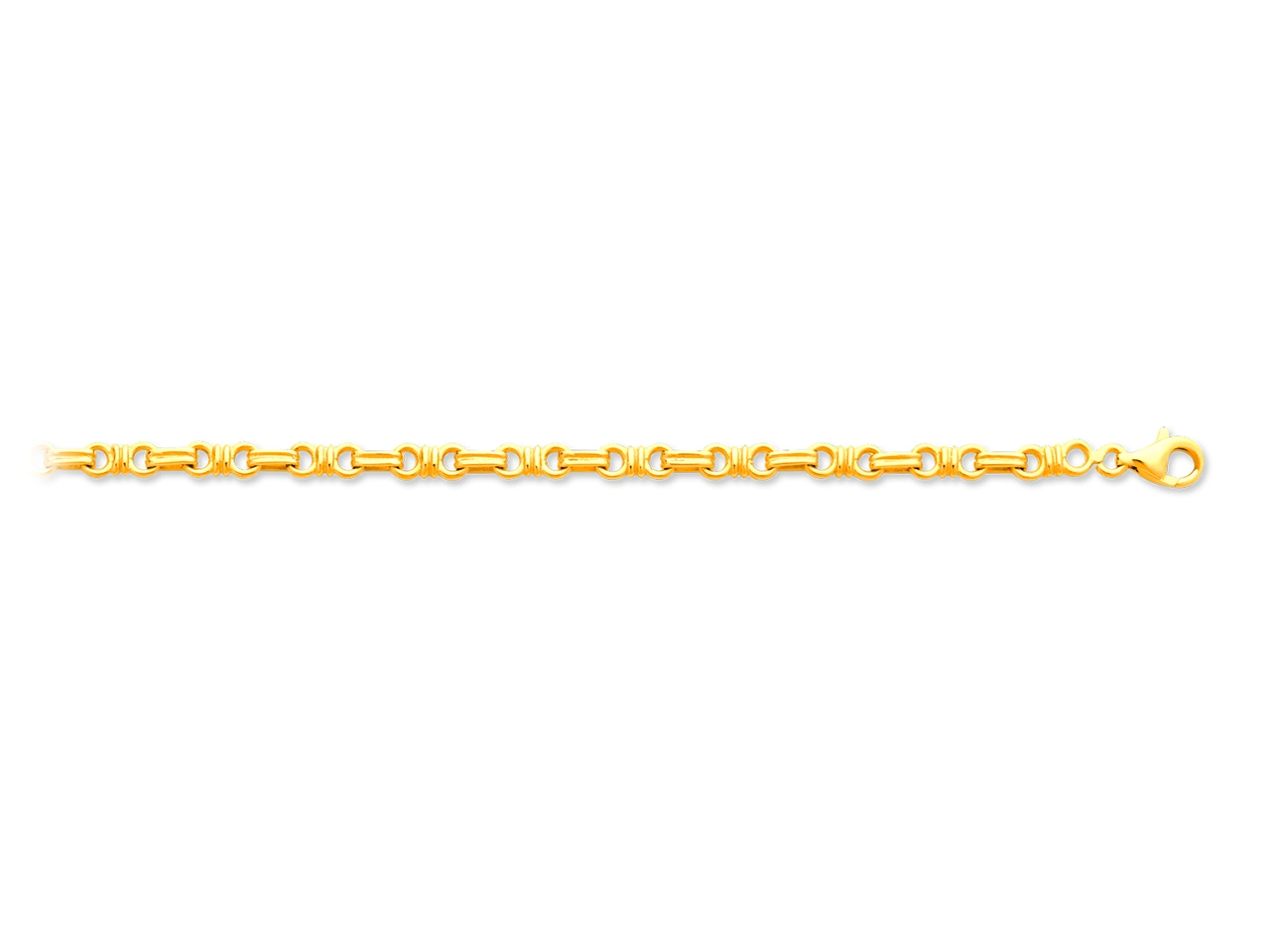 Bracelet noeuds, Or jaune 18k, 4,4 mm, 20 cm