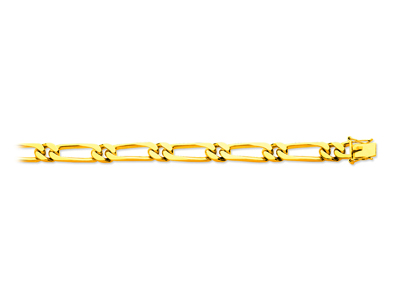 Bracelet maille Alternée 11 7 mm, 21 cm, Or jaune 18k