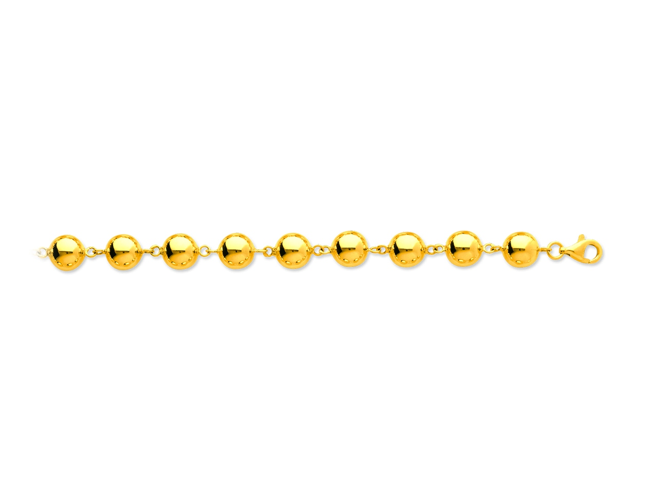 Collier Boules marseillais 9 mm, 45 cm, Or jaune 18k