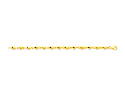 Collier Boules marseillais 5 mm, 45 cm, Or jaune 18k