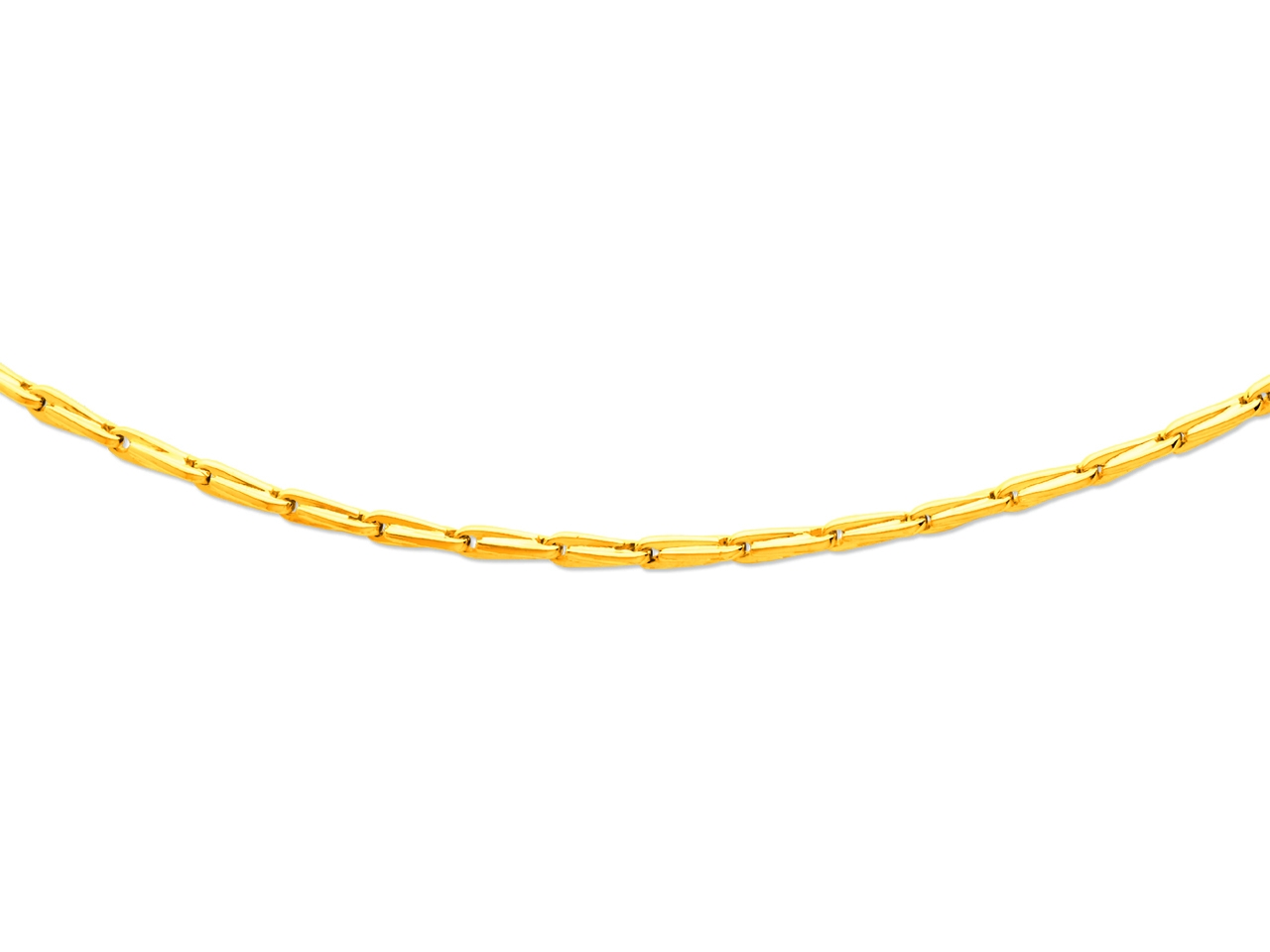Collier Homme maille Epi 3,6 mm, 55 cm, Or jaune 18k