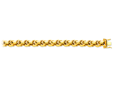Bracelet maille Royale fantaisie creuse 9 mm, 20,5 cm, Or jaune 18k