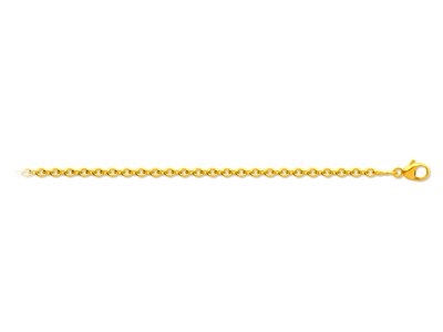 Chane forat ronde Or jaune 18k 15 mm 50 cm