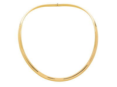 Collier Torque serction ovale, Or jaune 18k. Réf. 4702