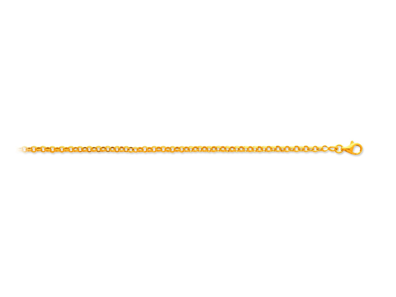 Collier maille jaseron, Or jaune 18k, 2,4 mm, 45 cm