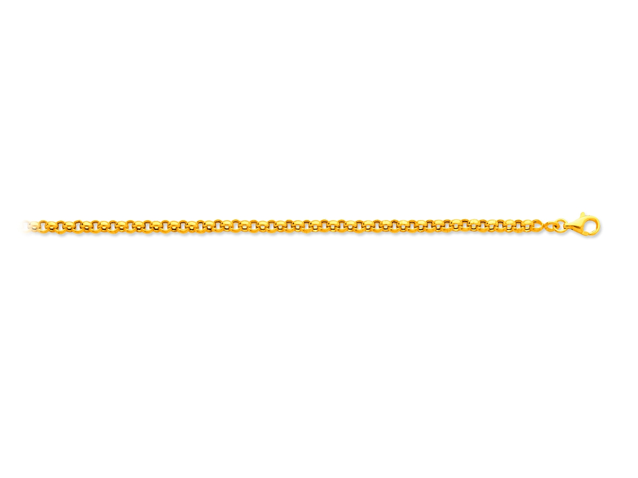 Collier maille jaseron, Or jaune 18k, 3,3 mm, 42 cm
